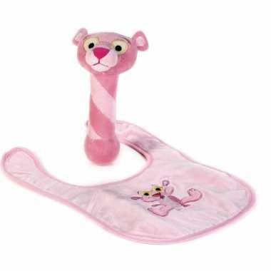 Baby geschenkset Pink Panter knuffeldoekje