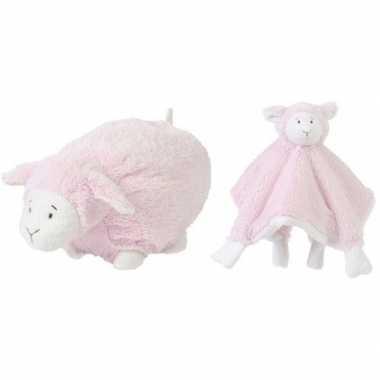 Happy horse lammetje roze knuffeldoekje knuffeldoekje liggend cm