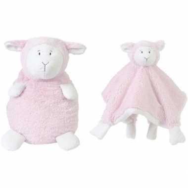 Happy horse lammetje roze knuffeldoekje knuffeldoekje zittend cm