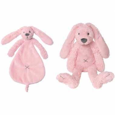 b72a8275ed1cde Happy horse richie konijn roze knuffeldoekje knuffeldoekje ...