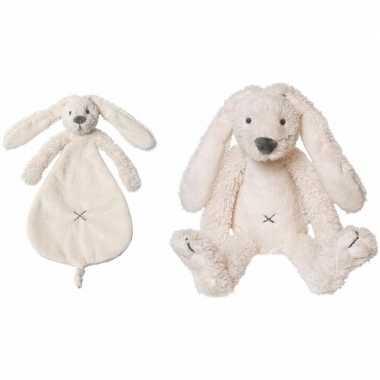 Happy horse richie konijn wit knuffeldoekje knuffeldoekje
