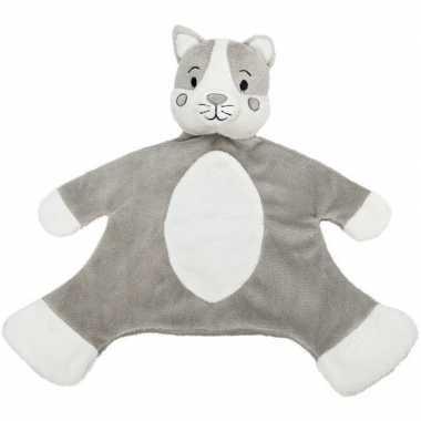 Katten speelgoed artikelen kat/poes tuttel/knuffeldoekje knuffeldoekj