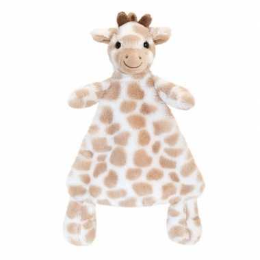 Keel toys pluche knuffeldoekje bruine giraffe knuffeldoekje