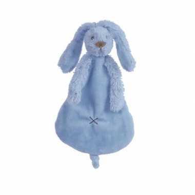 Knuffeldoekje knuffeldoekje konijn denimblauw
