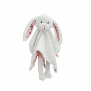 Knuffeldoekje knuffeldoekje konijn roze
