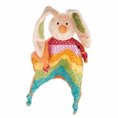 Knuffeldoekje regenboog konijn
