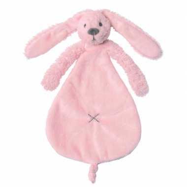 Konijn tutteltje roze knuffeldoekje