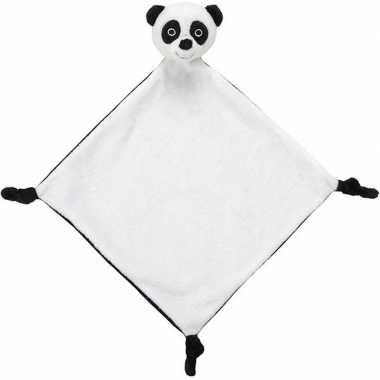 Pandas speelgoed artikelen panda tuttel/knuffeldoekje knuffeldoekjebe