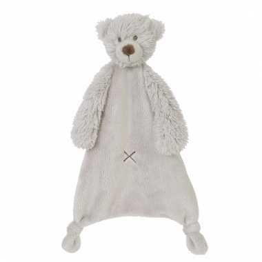 Pluche beer knuffeldoekje harvey