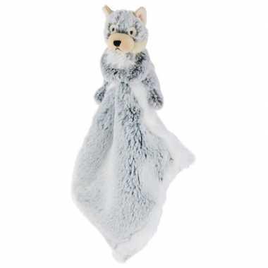 Wolven speelgoed artikelen wolf tuttel/knuffeldoekje knuffeldoekjebee